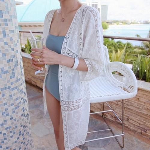 Áo khoác kimono voan chống nắng