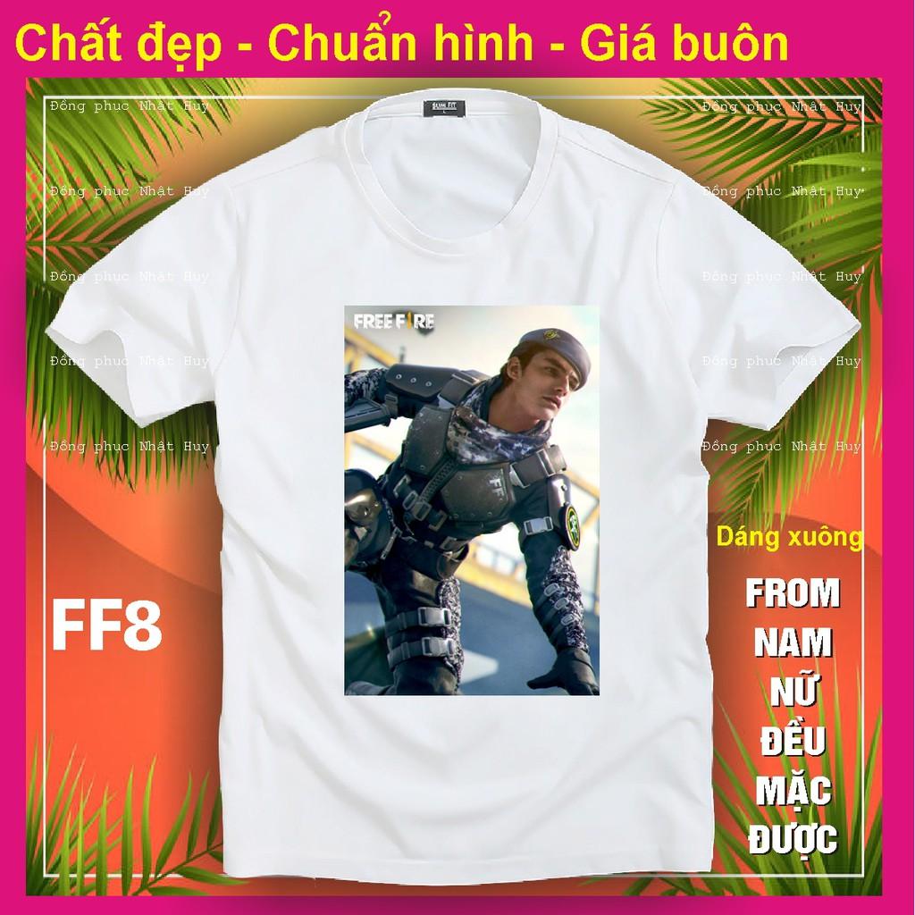 áo thun game Free Fire FF8 ,phông bao đổi trả, chất đẹp