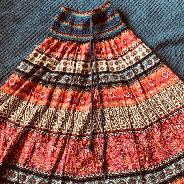 Chân váy thổ cẩm boho