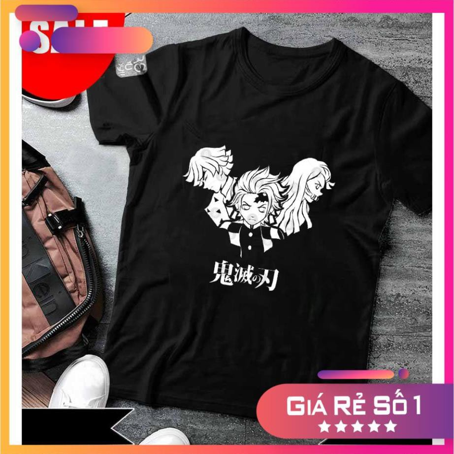 HOT  áo thun Demon Slayer in hình đẹp ⚡ FREESHIP ⚡Áo thun Kimetsu No Yaiba đẹp giá rẻ thời trang nam nữ
