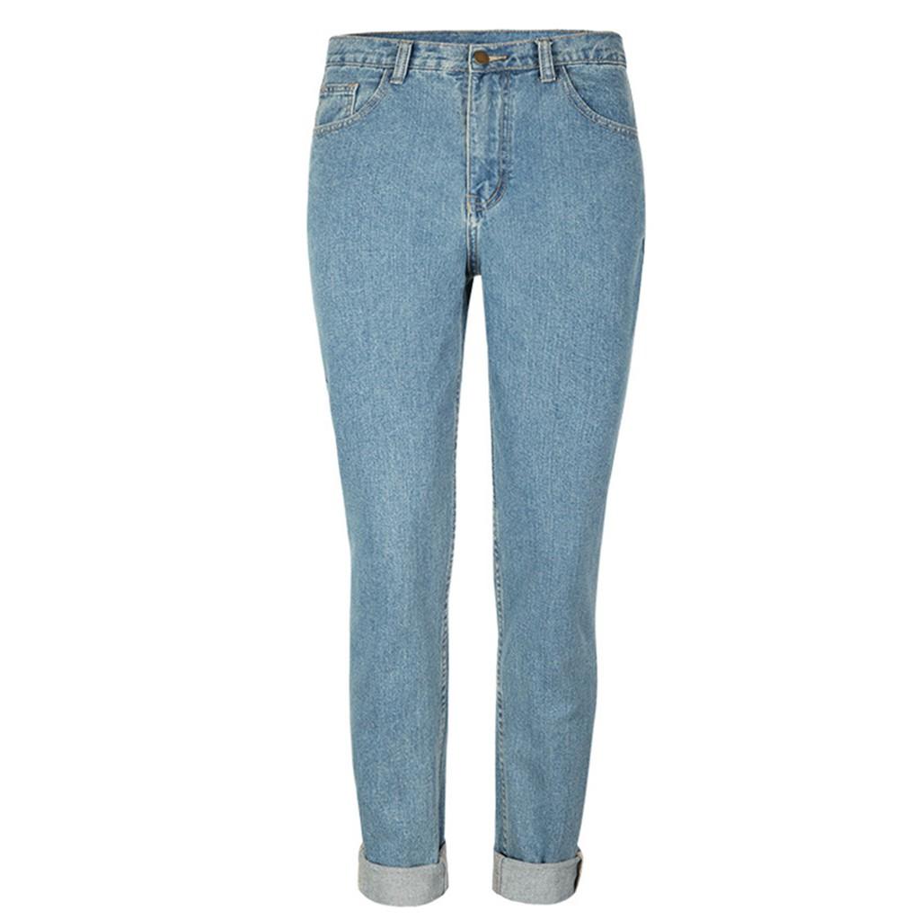 Quần jeans nữ lưng cao dáng ôm thời trang vintage