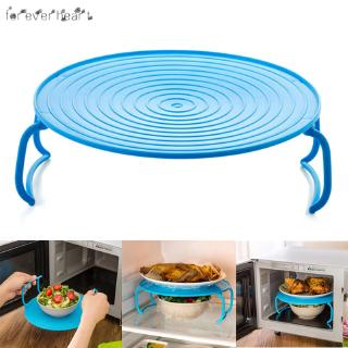 4 In 1 Microwave Plastic Stand Shelf Mini Heating Food Tray Cooling Rack Multifunction Kitchen Tool