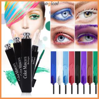 Hình ảnh Color Mascara Waterproof Fast Dry Colorful Curling Lengthening Lengthen Eyelashes Color Mascara