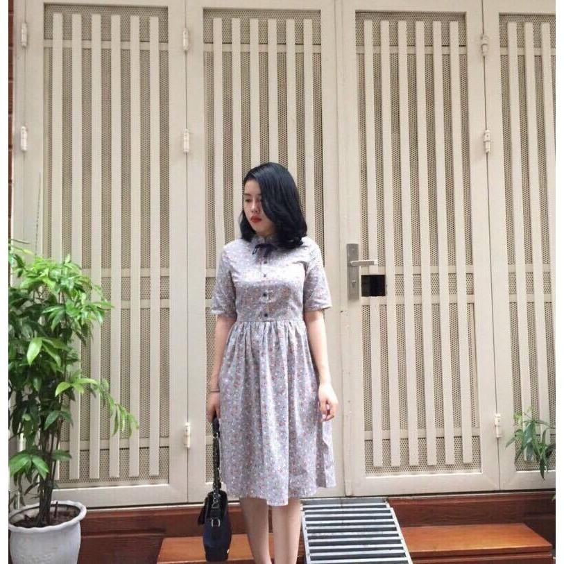 Đầm vintage hoa nhí
