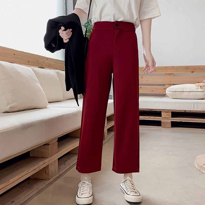 Quần Jeans Nữ Ống Rộng Lưng Cao Kiểu Hàn
