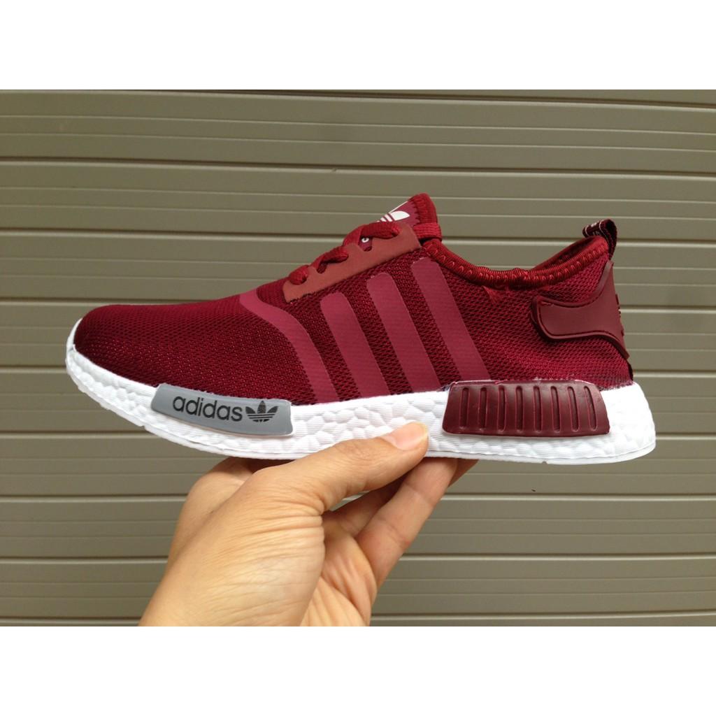 FREE SHIP + FULL BOX] Giày Adidas NMD R1 màu Đỏ đô đỏ mận