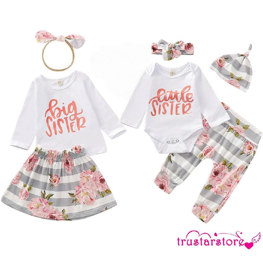 Bộ trang phục áo + chân váy + băng đô dễ thương cho bé gái ZWQ