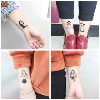 Cod In Stock New Creative Classic Black Waterproof Tattoo Sticker Body Arm DIY Tool for Girls