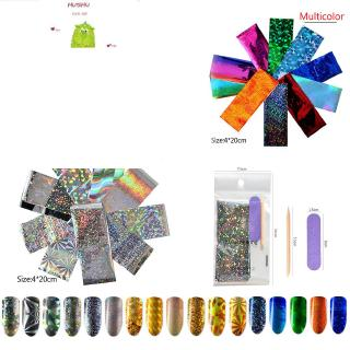HS AB Color Transparent 3D Transfer Adhesive Nail Art Stickers