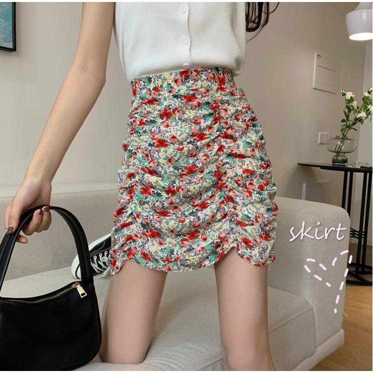 Chân váy hoa xếp ly Quảng Châu - HÀNG ORDER