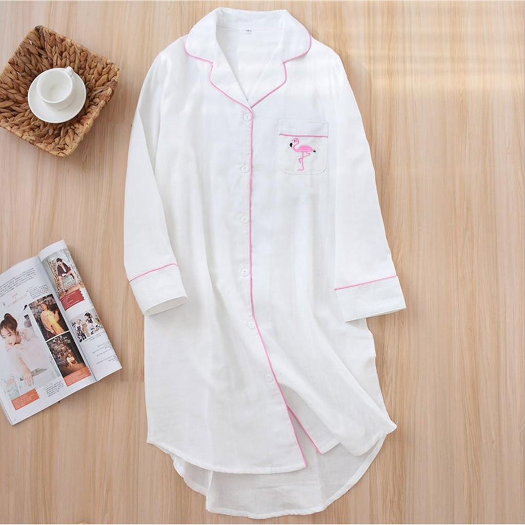 Váy cho mẹ xuất Nhật cao cấp _ WhiteFlamingo nightdress