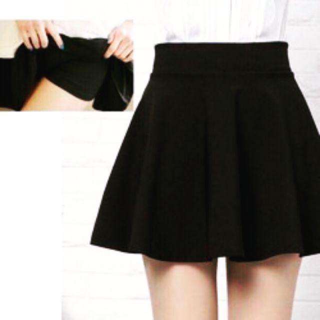 Chân váy xoè Suahn. Made in Việt Nam. Kiểu dáng đơn giản, màu sắc đen trơn dễ phối với các loại áo. Free size