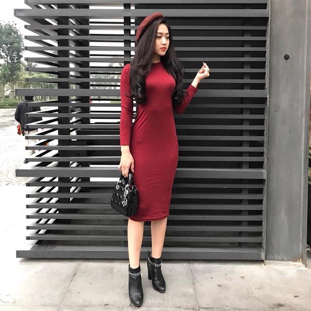 Váy maxi dài tay