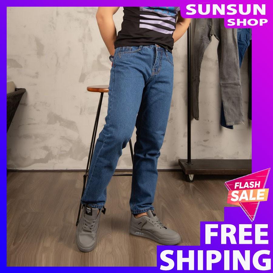 Quần jean ☀️ FREESHIP ☀️ Giảm 20k nhập [SHOPMAN20] quần ống suông nam SS63