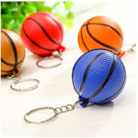 Móc khóa hình quả bóng rổ, bóng đá đường kính 4cm