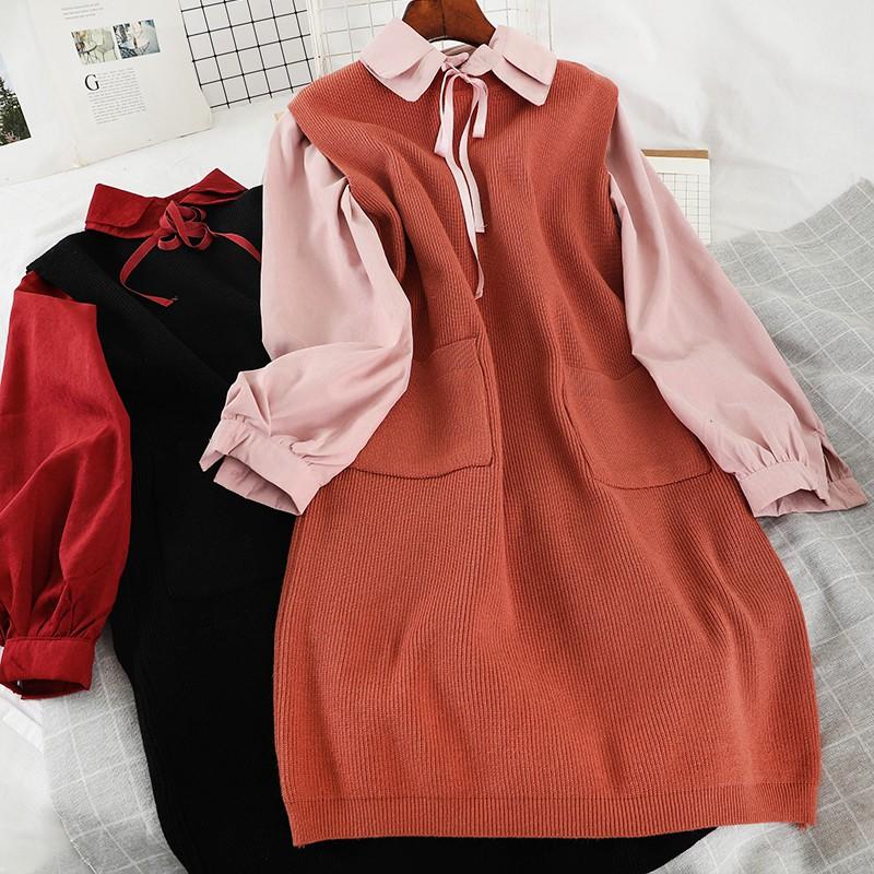 Bộ áo + đầm hai món thời trang xinh xắn cho nữ P171
