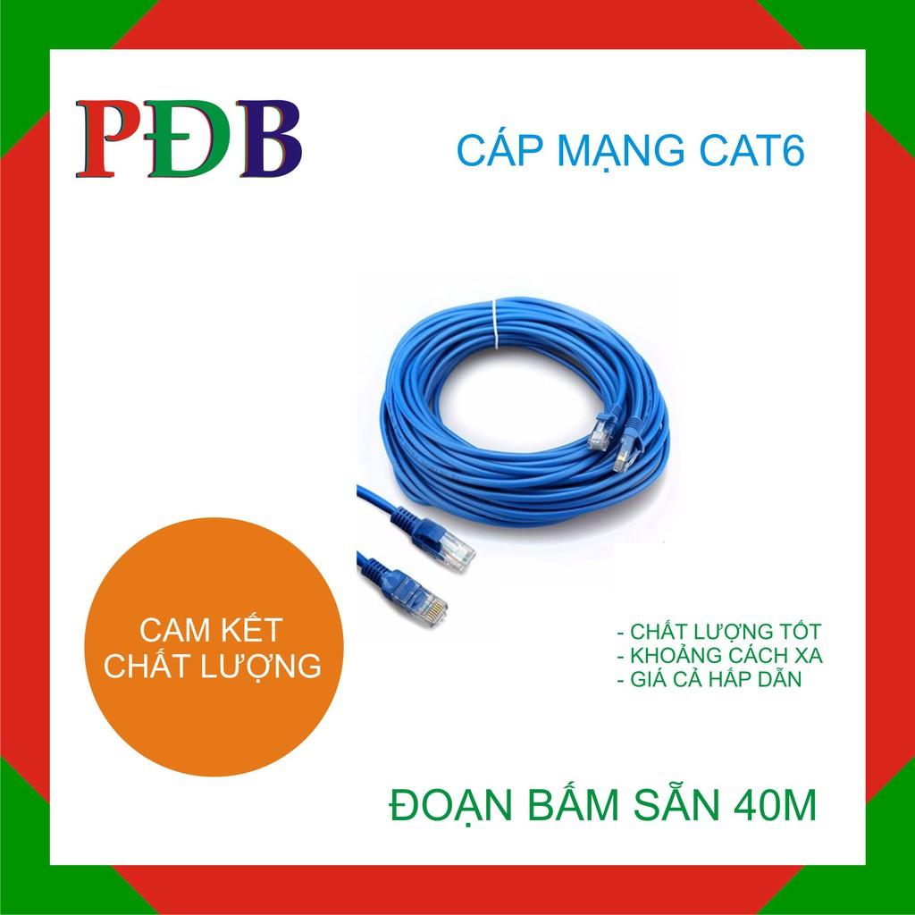 Đoạn dây mạng Captain Cat6 40m (Xanh)