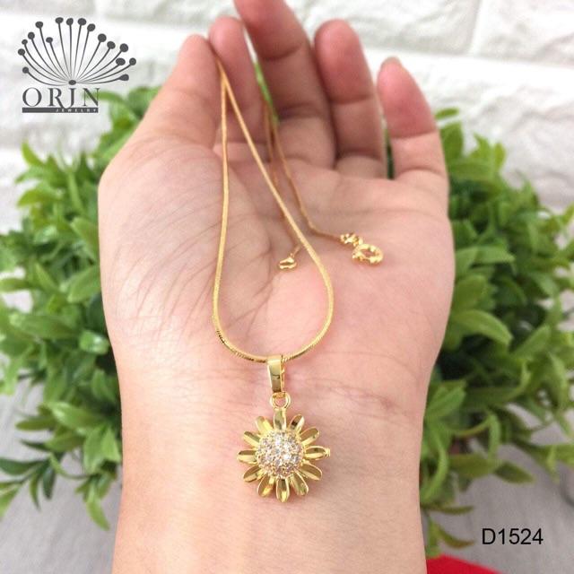 Dây chuyền xi vàng hoa hướng dương 18k Orin Pc1111