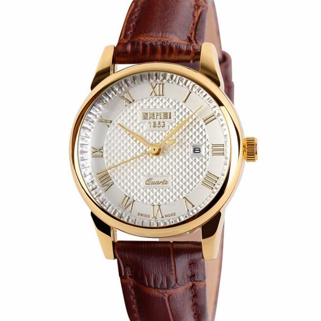 [Mã WTCHJAN giảm 20K ] Đồng hồ nam dây da SKMEI thời trang đẳng cấp mã SKM589T