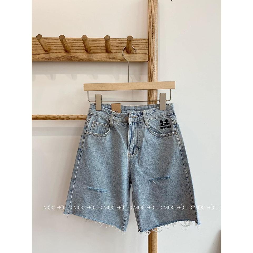 [ Lẻ Như Sỉ ] Quần jeans NGỐ thêu mickey túi sườn HOT TREND (M999)
