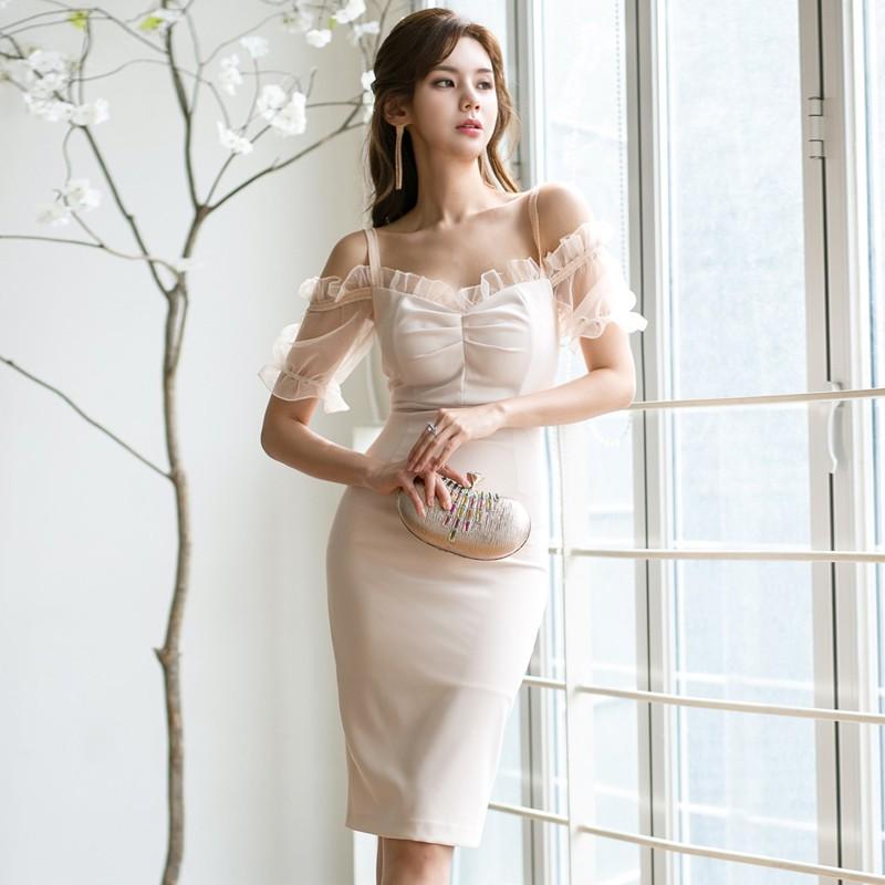 [Order] Váy đầm ôm body cuao ulzzang voan V170064