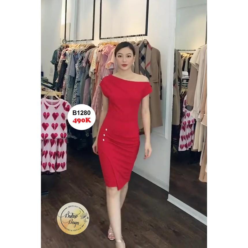 Váy đầm Rubi Đỏ - Hàng thiết kế - Sang Chảnh - Mượt Mà - Tinh Tế.