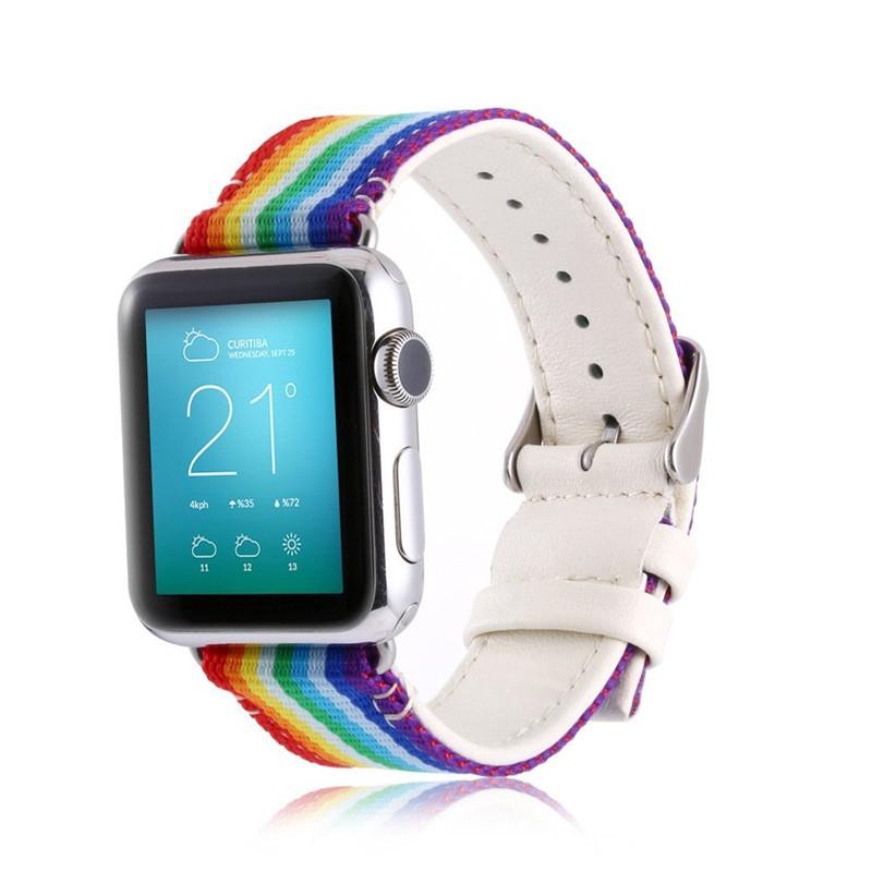 Dây đeo sợi nylon thể thao cho đồng hồ thông minh Apple Watch Series 1 / 2 / 3 /4 ( 38mm / 42mm 40mm 44mm)