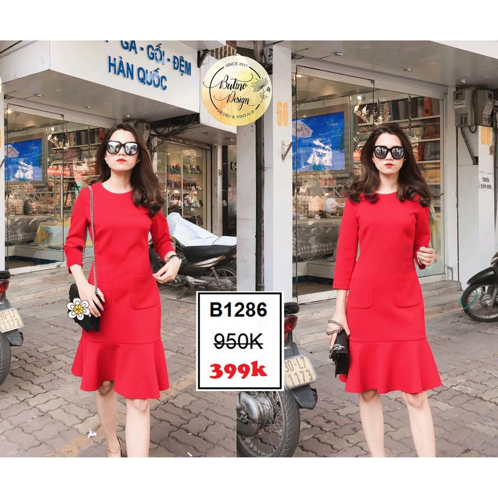 Váy đầm Sona Đỏ - Hàng thiết kế