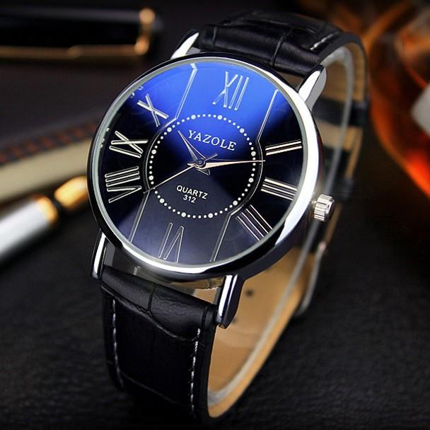 [Mã WTCHJAN giảm 20K ] Đồng hồ nữ Yazole HSP9502 dây da pu, mặt kính size 32mm