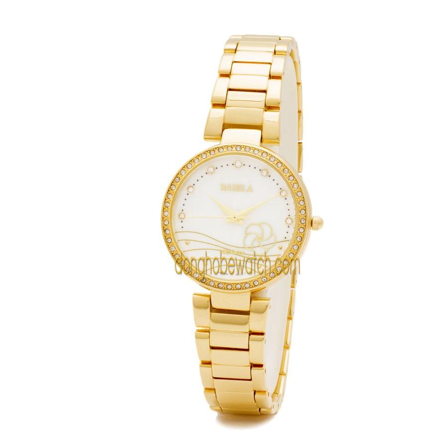 Đồng hồ nữ Babila BA2452 dây kim loại vàng