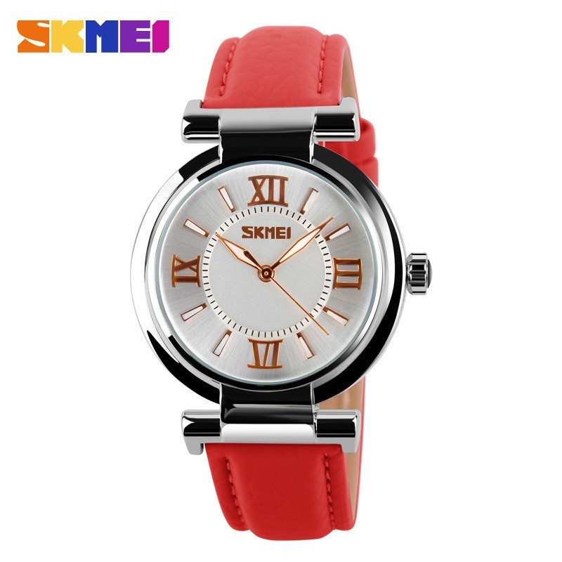 [Mã WTCHJAN giảm 20K ] Đồng hồ nữ Skmei HSP5701 chính hãng dây da mềm, mặt kính size 35mm