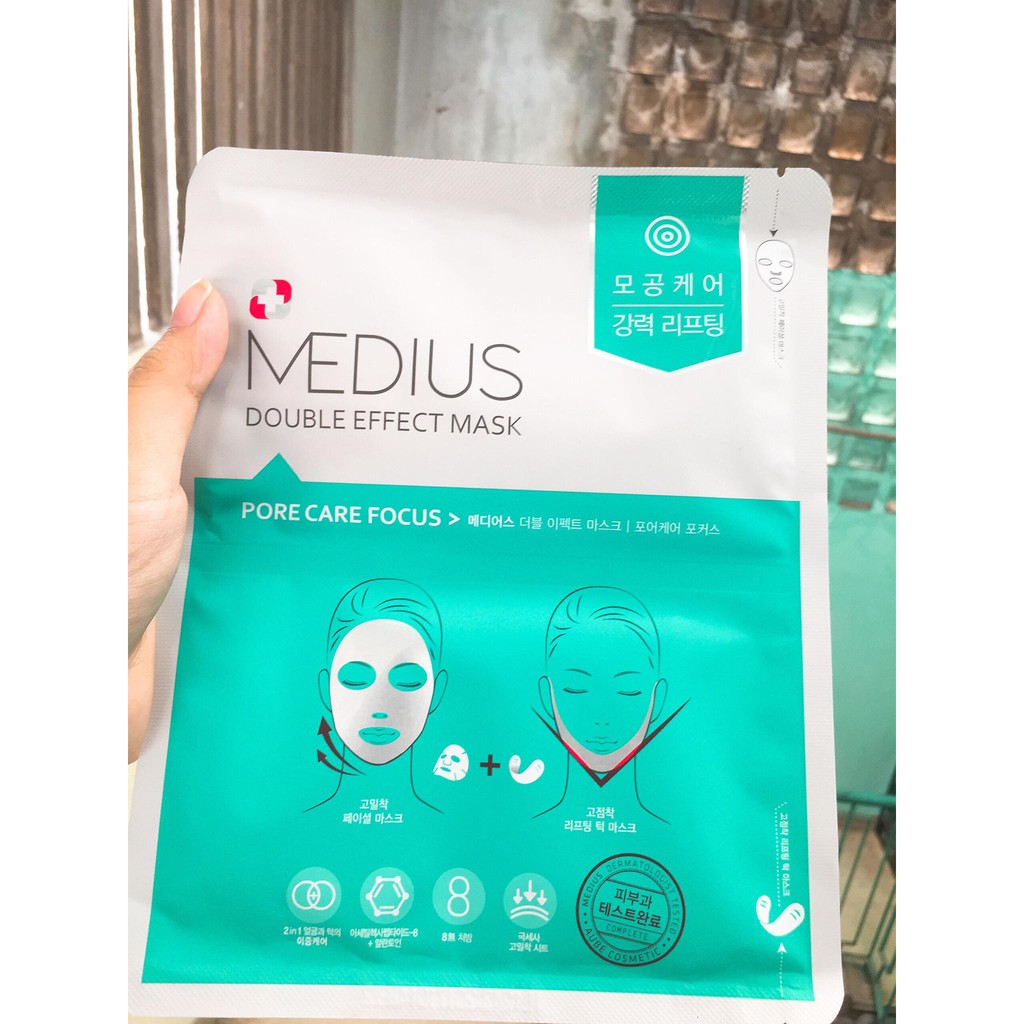 Mặt nạ V-line Medius Double Effect Mask - Pore Care