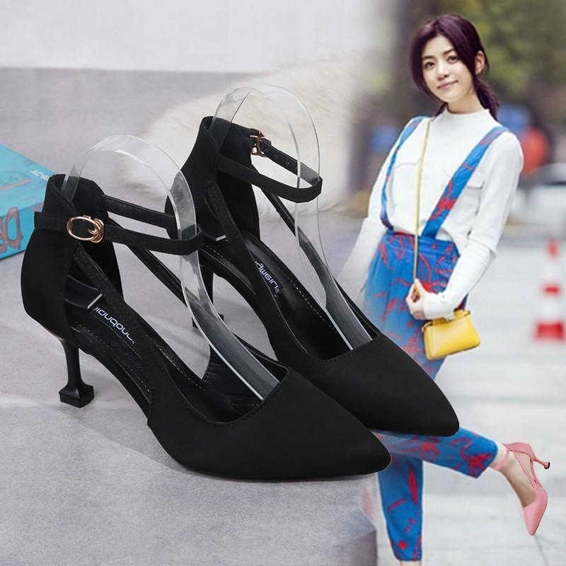 D146 giầy cao gót kiểu dáng đơn giản hợp thời trang