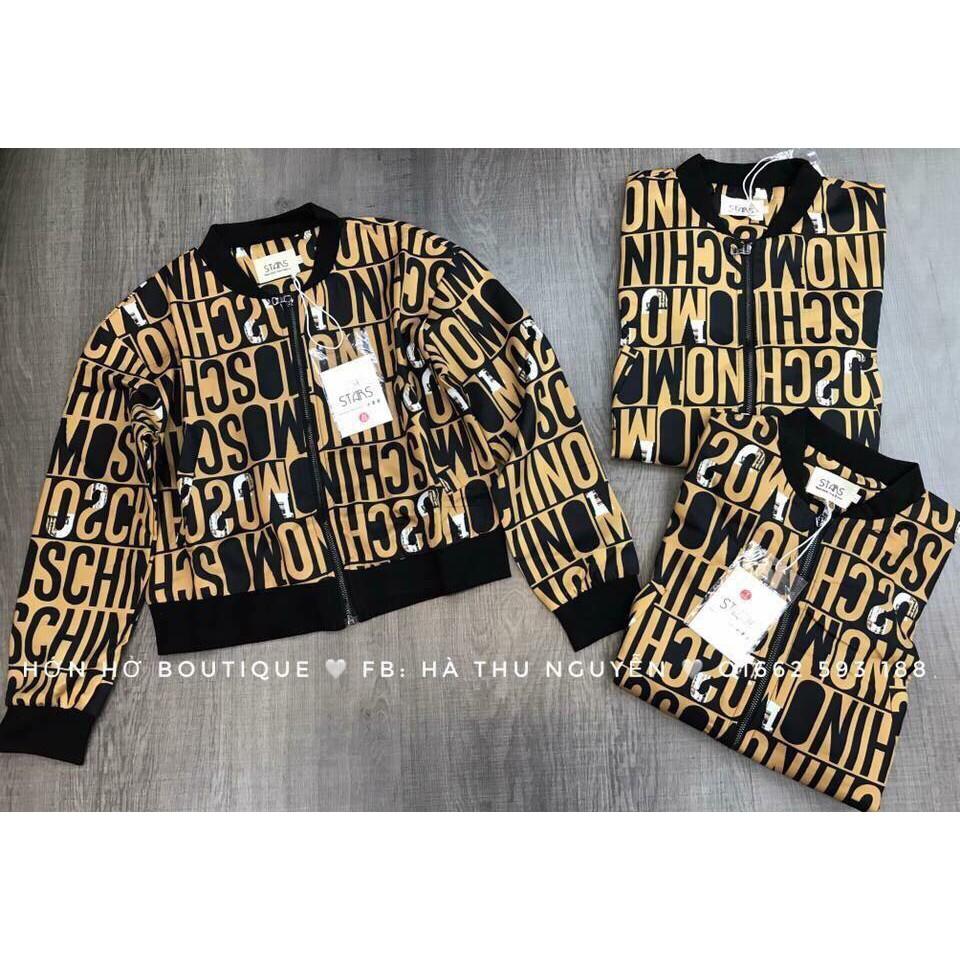 áo khoác moschino 2 mầu như ảnh hàng loại 1