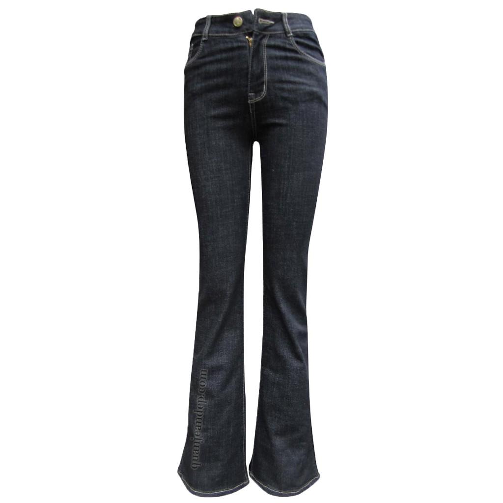 Quần jean nữ ống vẩy cạp cao Loe 09