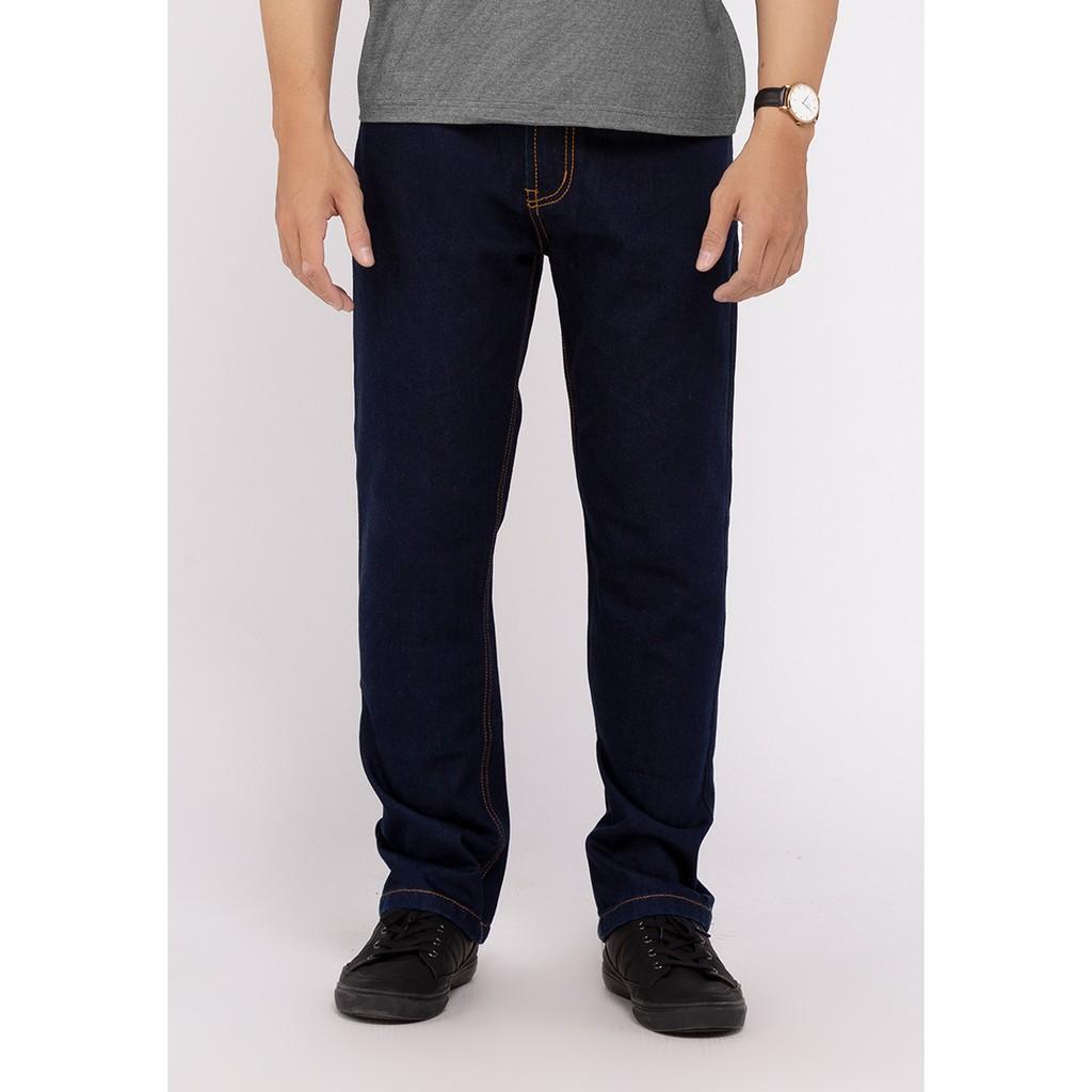 Quần Jeans Nam Ống Suông A91 JEANS CB06 (Xanh đậm)