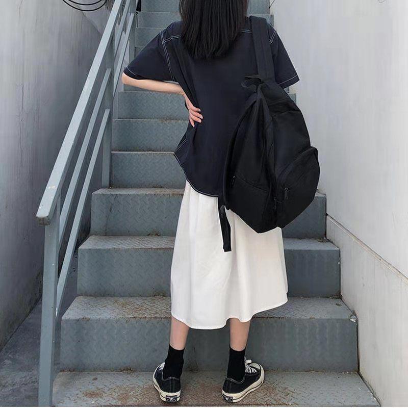 Chân Váy Chữ A Lưng Cao Thời Trang Xuân Hè Cho Nữ