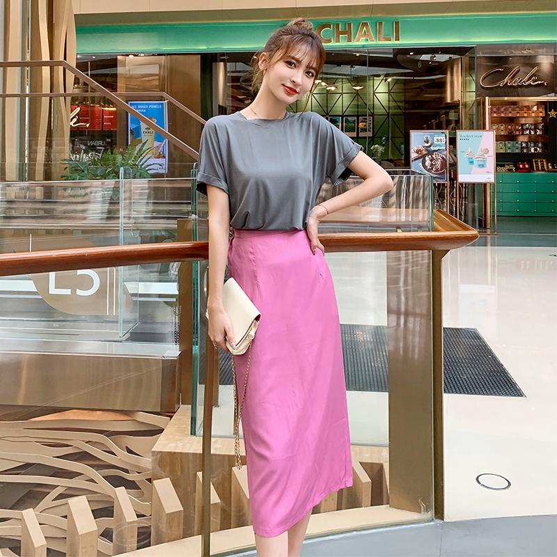 Set Áo Thun Dáng Rộng + Chân Váy Thời Trang Ngọt Ngào Cho Nữ
