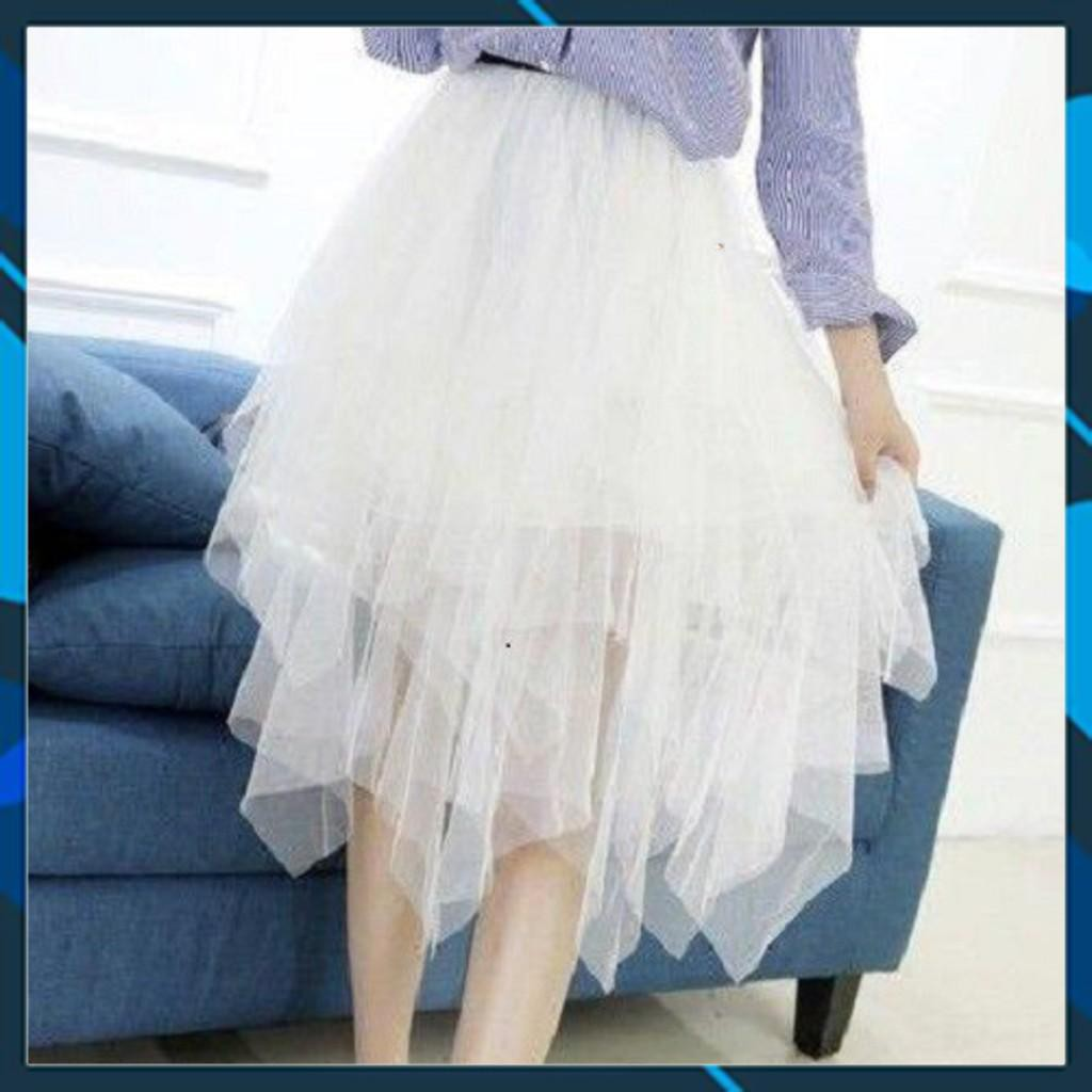 [RiniShoppu2020] 129B1 Chân váy ren công chúa tua rua cực xinh và bồng bềnh lãng mạn