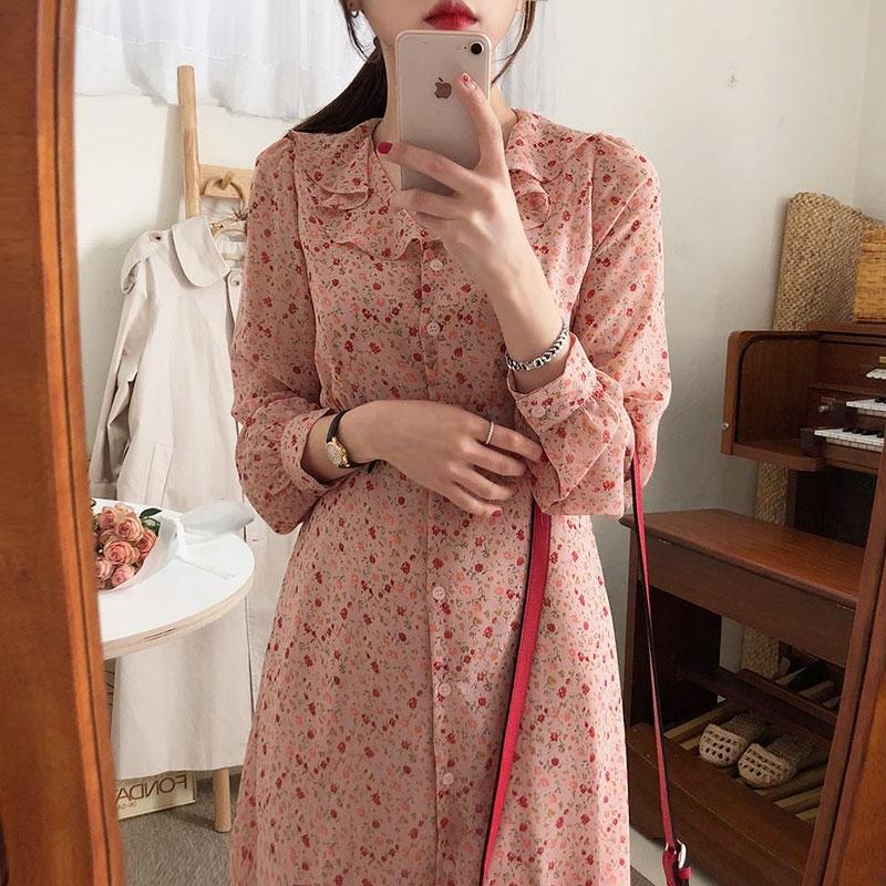 Chân Váy Dài In Hoa Kiểu Phương Tây Thời Trang 2020 Cho Nữ