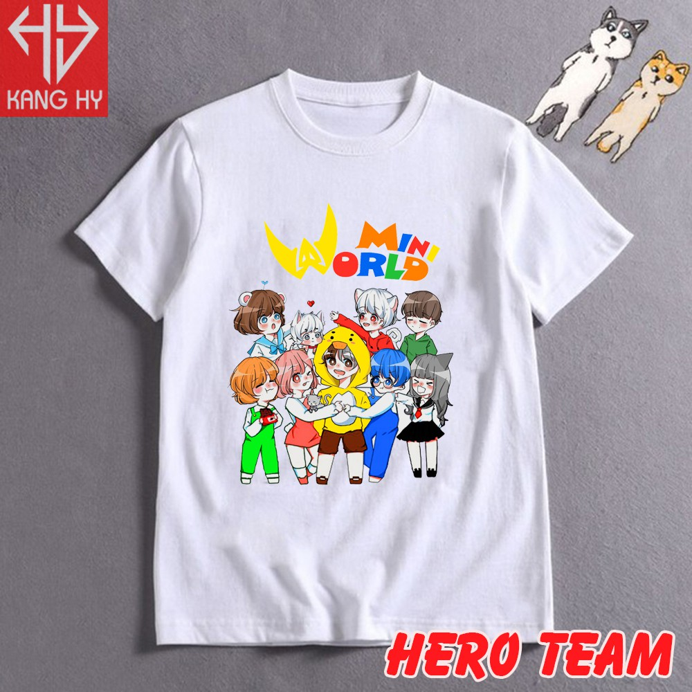 áo thun hero team mini world