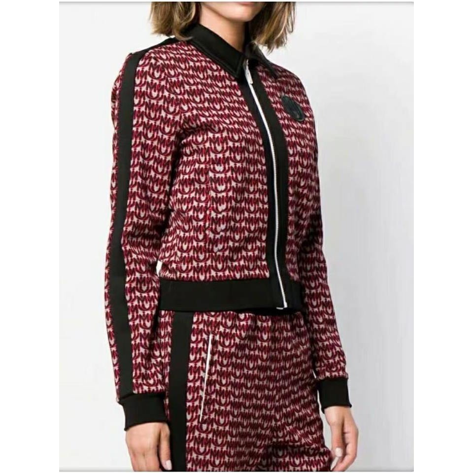 Hàng nhập - Set đầm thun áo khoác chân váy suông họa tiết siêu sang - 8490 LL23.9