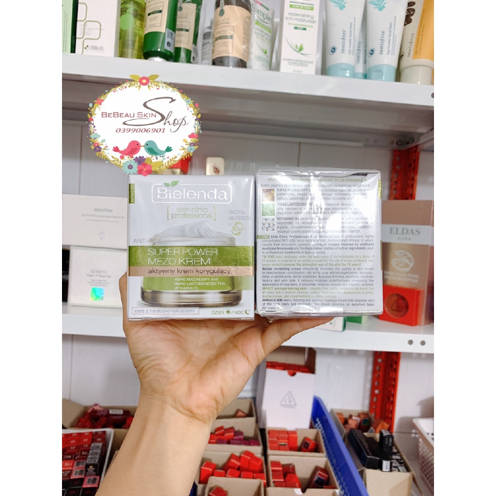 Kem Dưỡng Trắng Chống Lão Hóa Bielenda Skin Clinic Professional