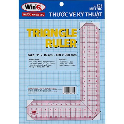 Thước vẽ kỹ thuật, Thước L, Thước đo góc vuông, Template Ruler L-505