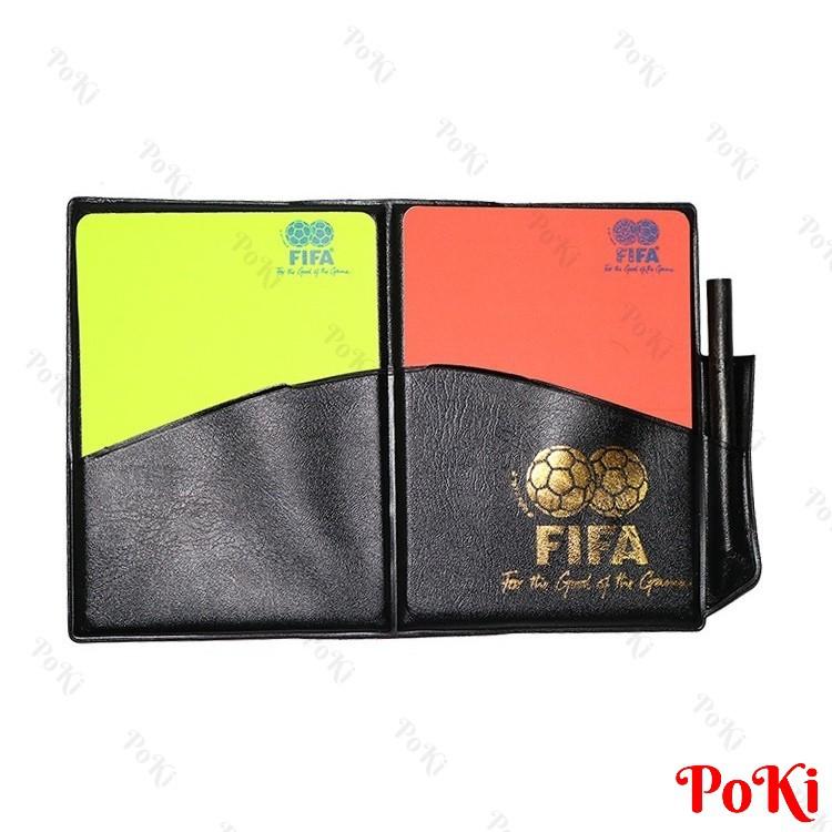 Thẻ trọng tài FIFA, thẻ vàng đò bóng đá - POKI
