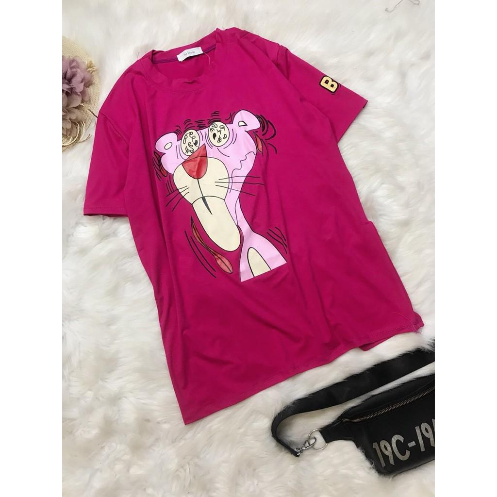 Váy dấu quần báo hồng cute. Chất thun lạnh co giãn 4 chiều (áo bầu bí, form rộng, dấu quần)
