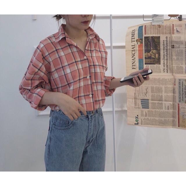 VINATGE SHIRT ❤️ - Màu cam ngọt lịm luôn, vải stock mịn, mát lắm nha mấy chế ơi - Free sz  471B Nguyễn Kiệm,P9,Quậ