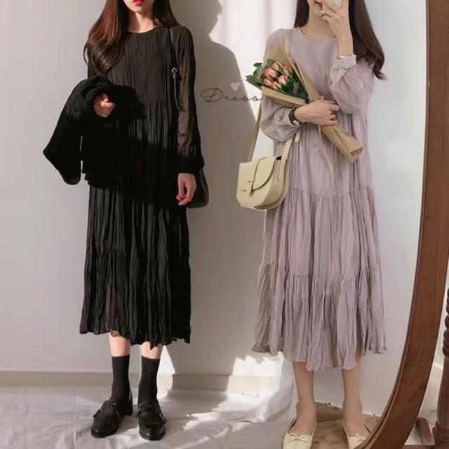Váy Dáng Dài Mùa Thu Chân Váy Xếp Ly ❤️Tặng Quà VIP❤️Ưu Đãi Lớn-Hôm Nay - Đẹp, Phong cách trẻ trung,sang trọng