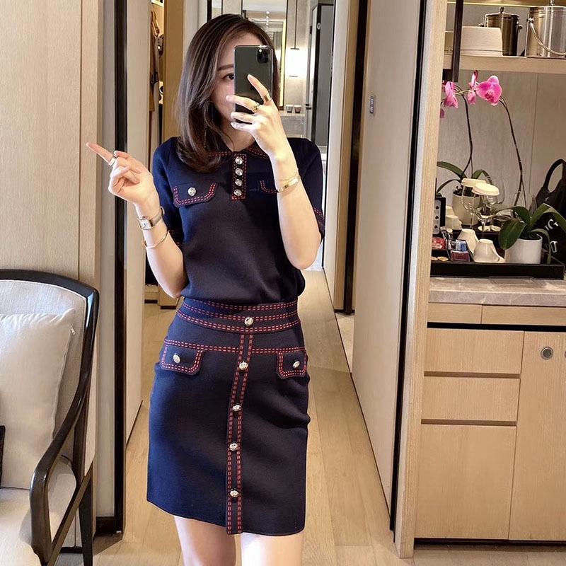Bộ Áo Sơ Mi Ngắn Tay + Chân Váy Xinh Xắn Dành Cho Nữ