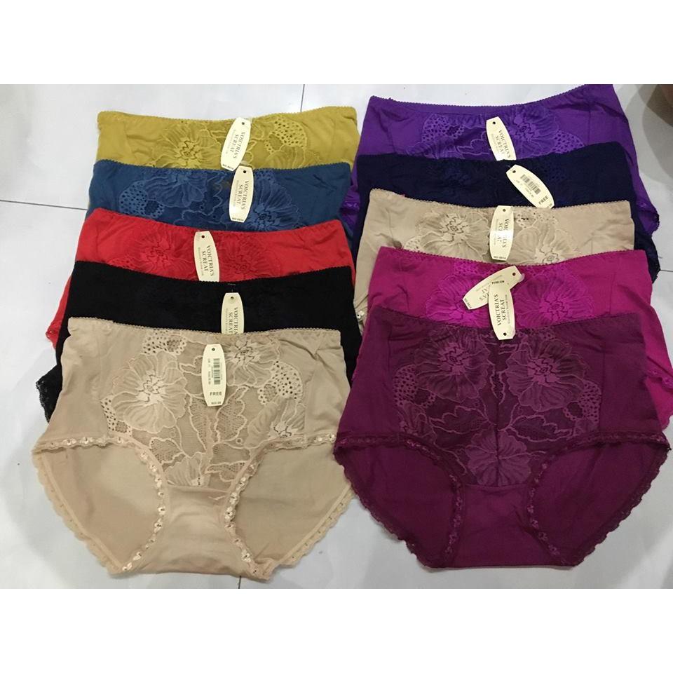10 quần lót cotton cạp cao zen cỡ đại 60-70kg chất đẹp mã 8614
